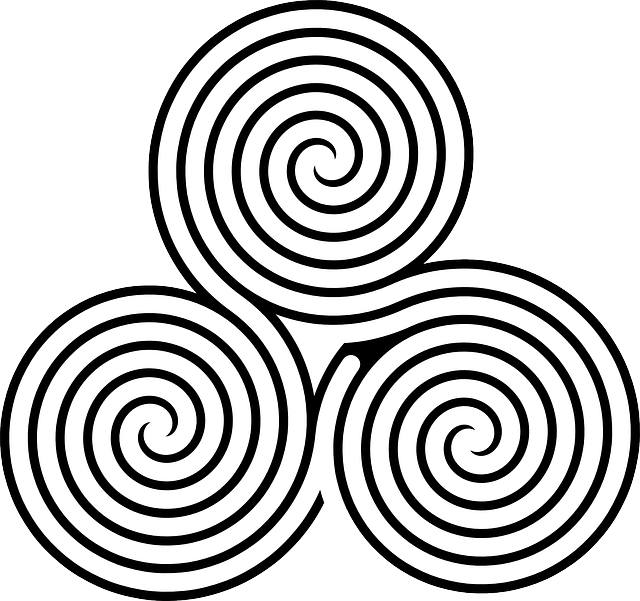 celtic, free, spiral, triple, ornament, decorative