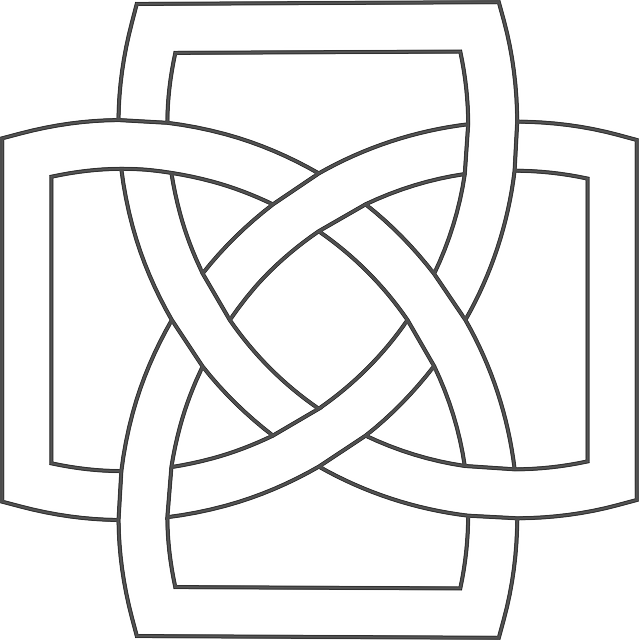 celtic, knot, simple, border, free, patterns, knots