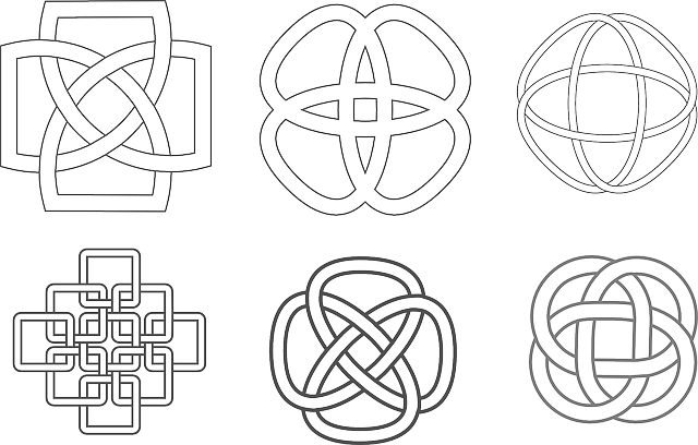 celtic, knot, simple, symbols, patterns, knots