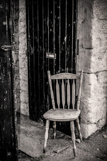 chair, wooden, black, wood, pine, craft, brown, seat