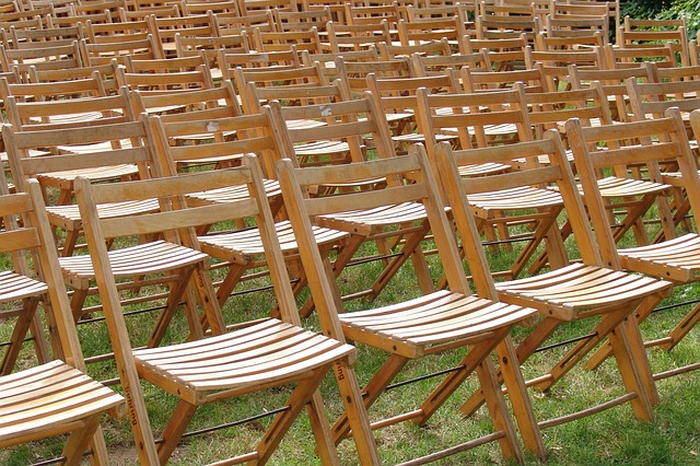 chairs, sit, reservation, event
