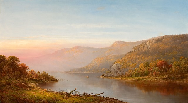 charles wilson, hudson river, new york, painting