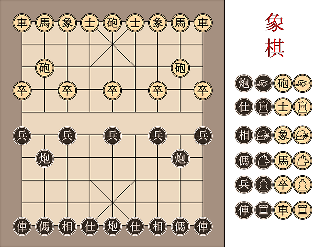 chessboard, board, chess, chinese, game, play, strategy