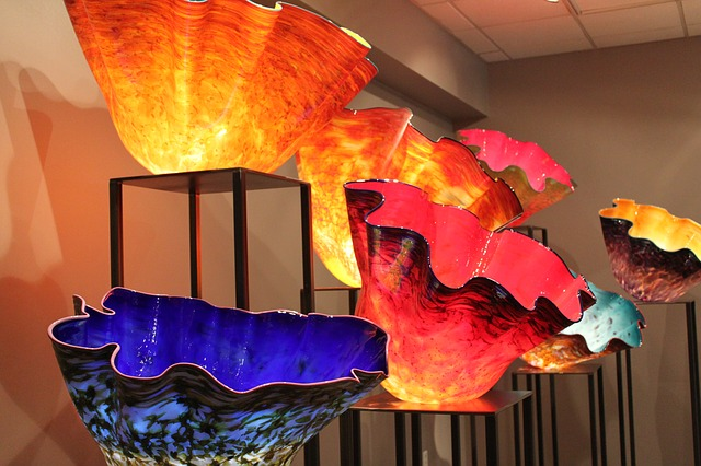 chihuly, chihuly glass sculpture, art, glass, yellow