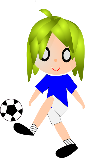 child, playing, football, soccer, ball, people, infant
