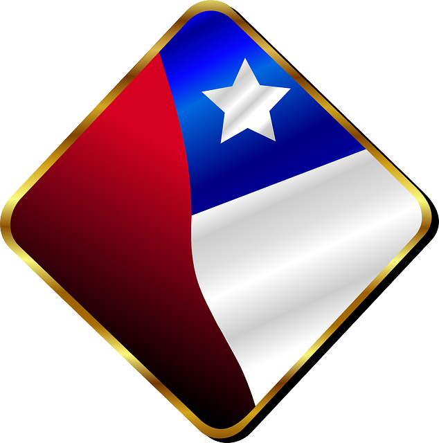 chile, chilean, chili, country, flag, pin, star