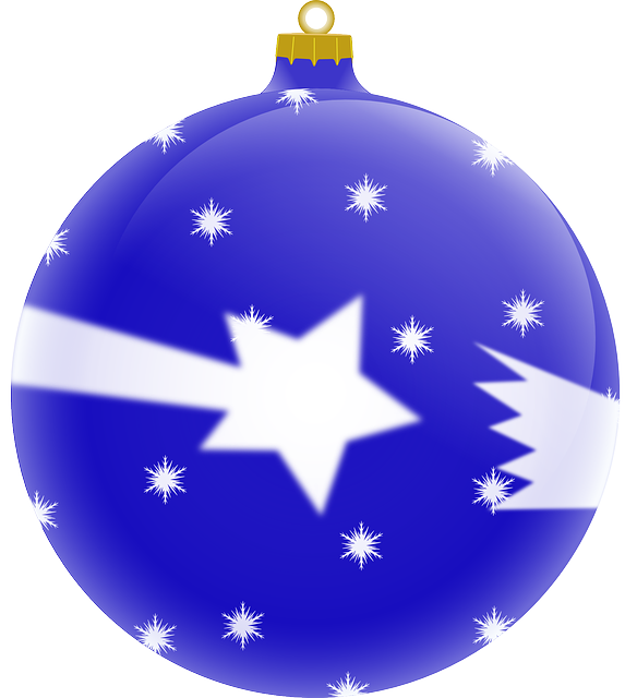 christmas bauble, christmas, bauble, blue, ball, comet