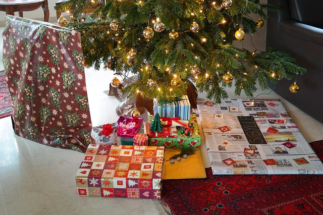 christmas, gifts, made, packed