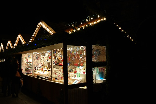 christmas market, stand, sales stand, market, stall