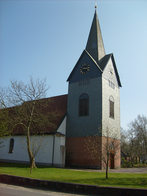church, building, germany, architecture, steeple, sky