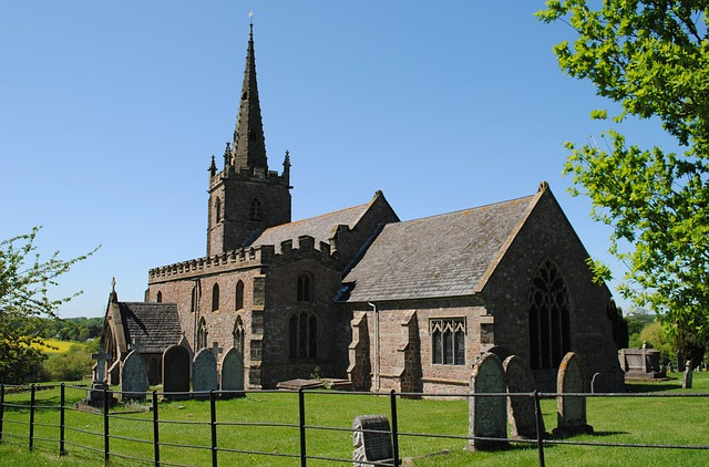 church, country, village, england