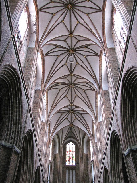 church, germany, architecture, ceiling, intricate