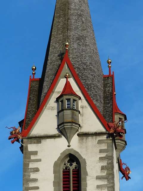 church, steeple, stone most pure