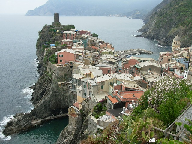 city, rock, sea, italy, cinque terre