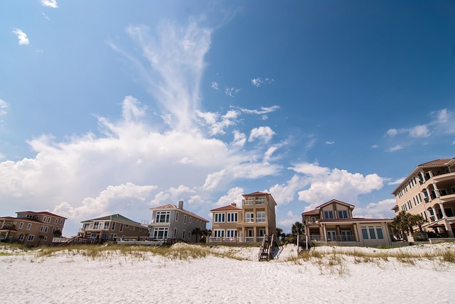 clear, clouds, condominiums, condos, county, destin