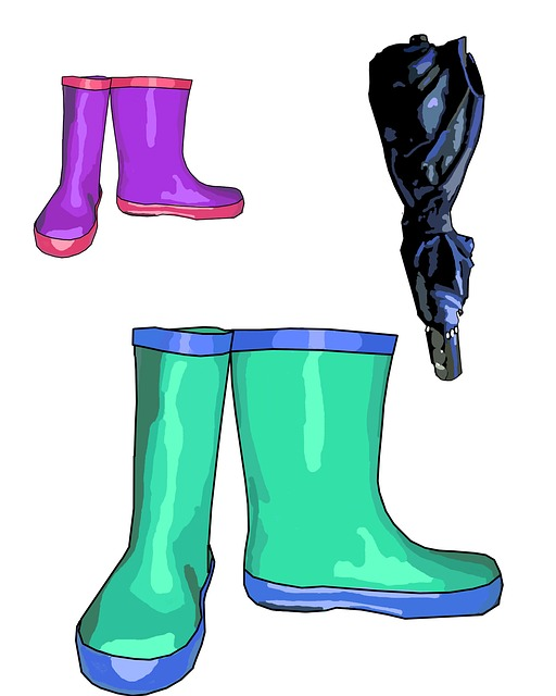 clip, art, illustration, blue, purple, rain boot, rain
