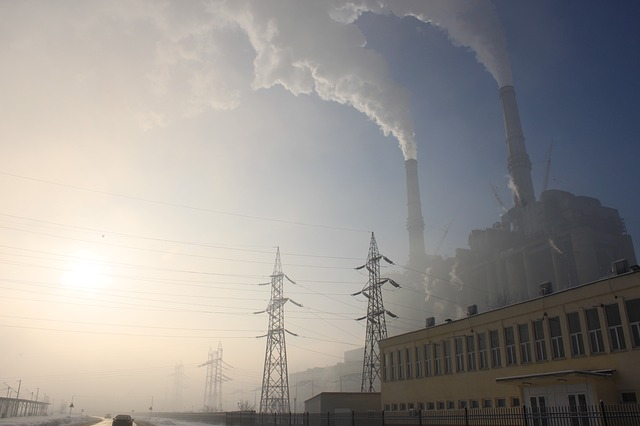 coal, electricity, emnergy, plant, power, smoke, spews