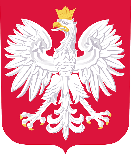 coat of arms, national coat of arms, poland, red, white