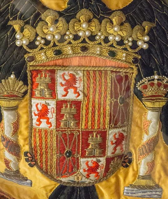 coat of arms, spain, flag, castilla, leon, crown
