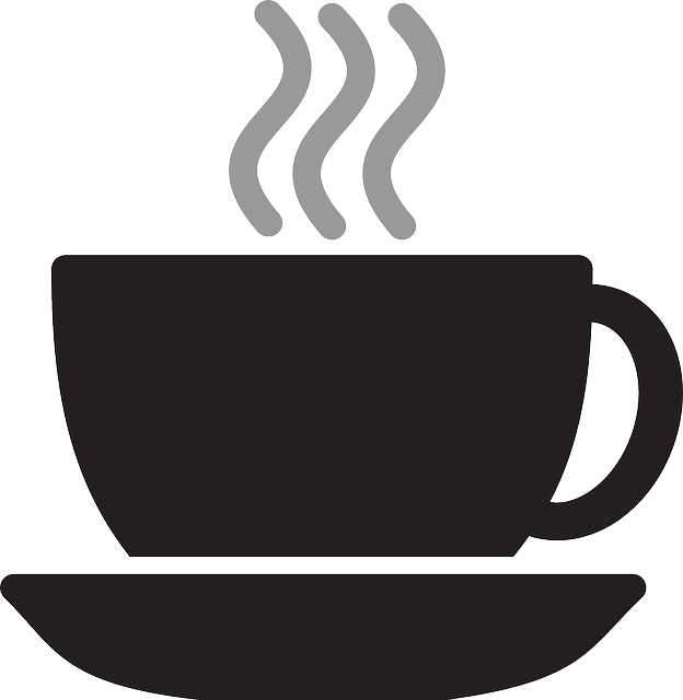 coffee, cup, silhouette, steam, tea