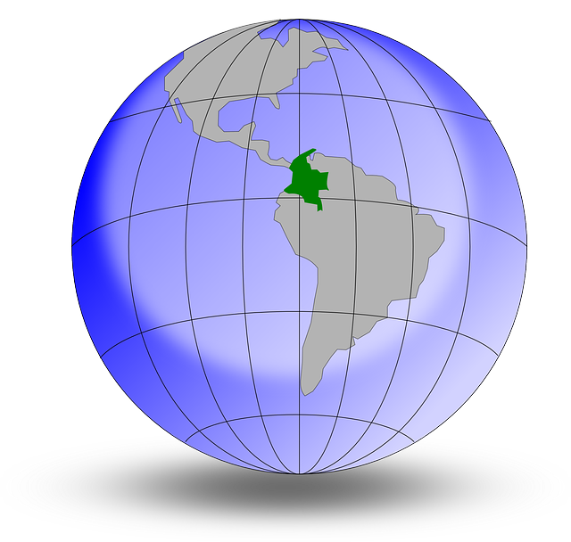 colombia, earth, globe, world, south america, geography