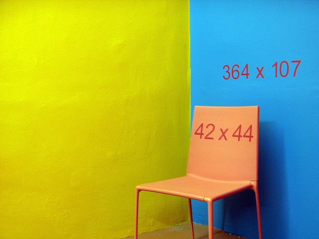color, chair, subject, yellow