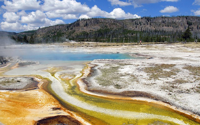 color, yellowstone national park, wyoming, volcanic