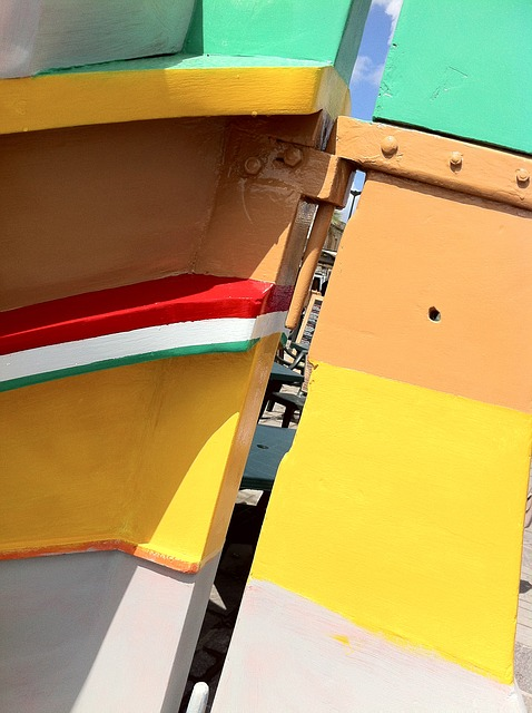 colors, boat, background