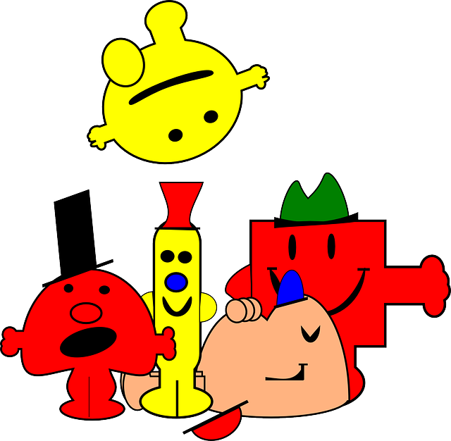 comic, cartoon, smiley, figures, creatures, kids