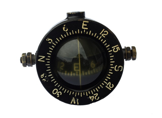 compass, antique, old, compass point, navigation