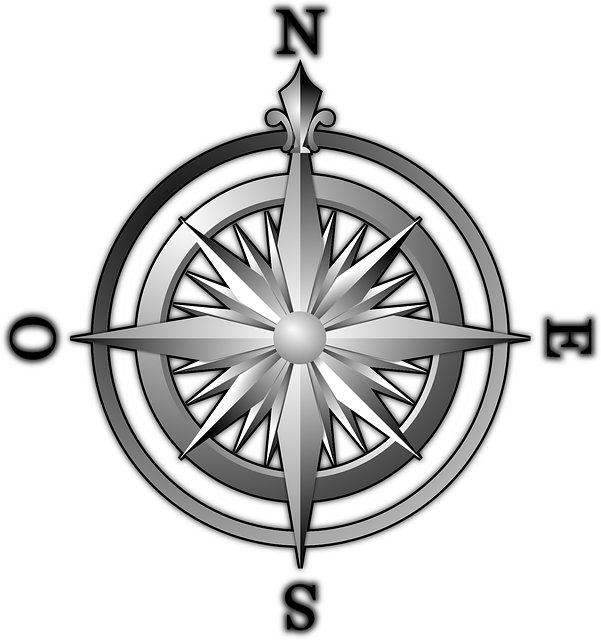 compass, wind rose, compass rose, north, east, south