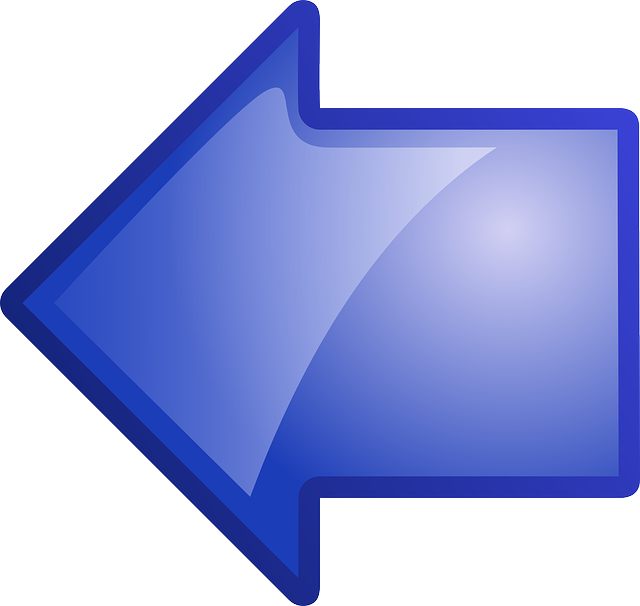 computer, back, icon, left, right, blue, arrow, going
