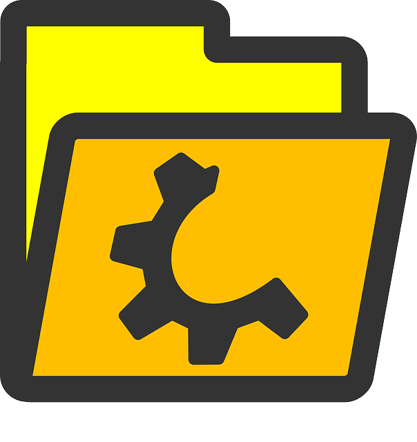 computer, flat, folder, yellow, open, half, icon