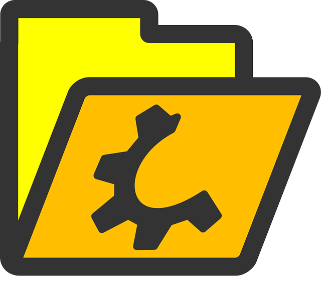 computer, flat, folder, yellow, open, icon