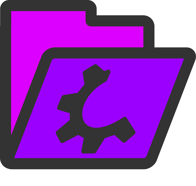 computer, flat, icon, folder, open, violet, theme