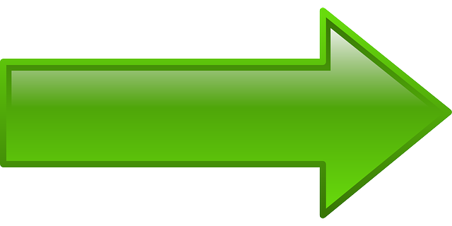 computer, green, icon, right, arrow, cartoon, shapes