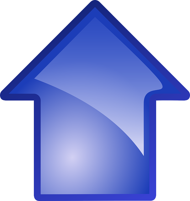 computer, icon, blue, symbol, arrow, going, cartoon
