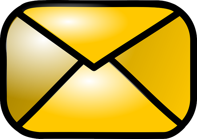 computer, icon, envelope, closed, gold, theme