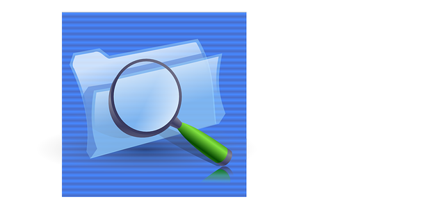 computer, icon, glass, folders, lens, theme, find, zoom