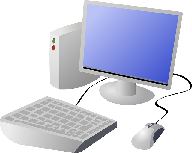 computer, monitor, top, screen, flat, laptop