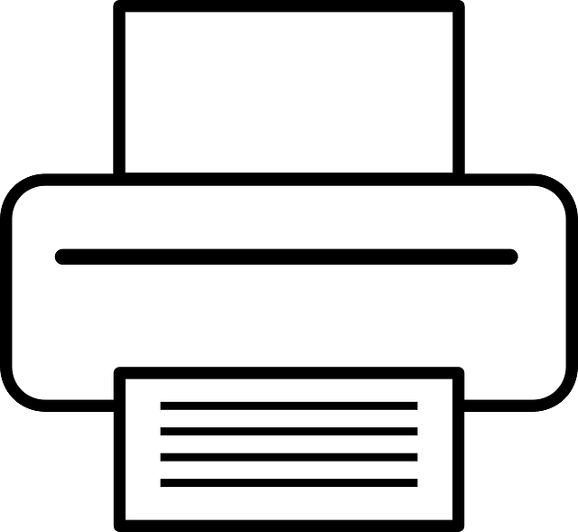 computer, printer, paper, symbol, office, peripheral