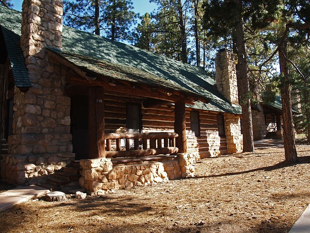 cozy, guest cabin, hut, forest, vacation, building