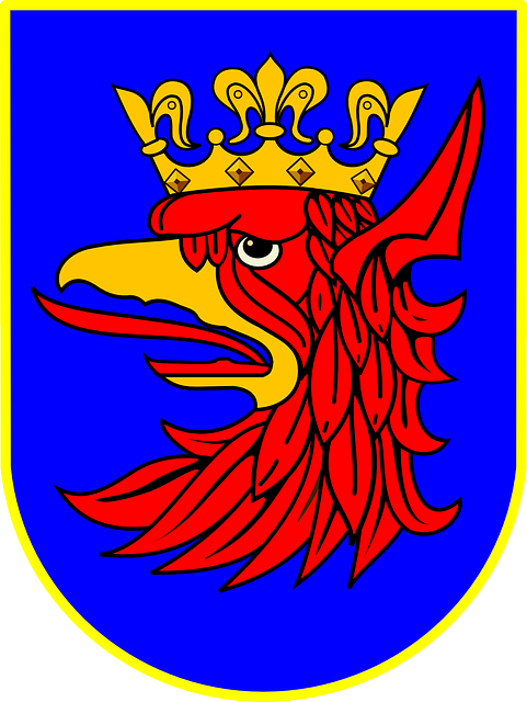 crest, emblem, coat of arms, poland, griffin, crown