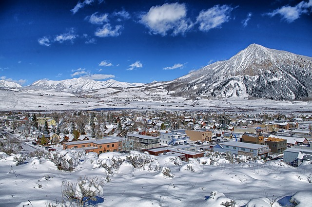crested butte, colorado, town, buildings, architecture