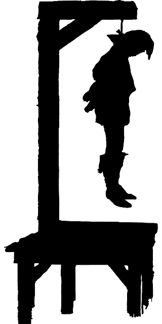 dead, man, silhouette, law, person, cartoon, hung