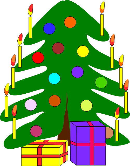 decorated, tree, recreation, gift, christmas, holiday