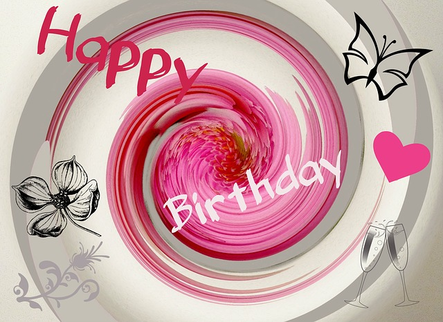 digital art, greeting, congratulations, birthday