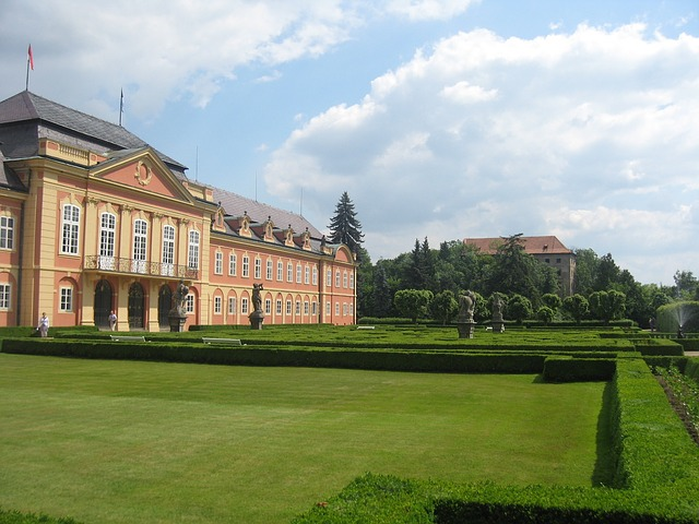 dobris, czech republic, landscape, palace, building