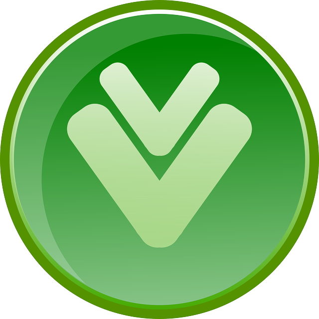 download, arrow, down, icon, green