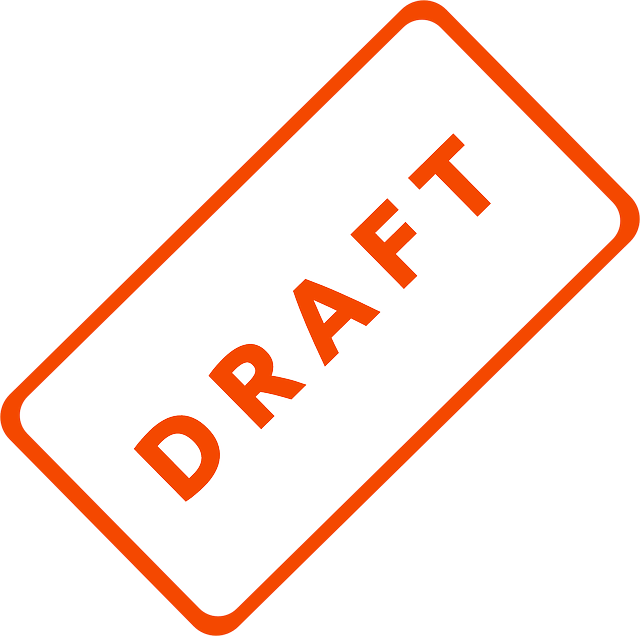 draft, business, document, file, filing, office, stamp